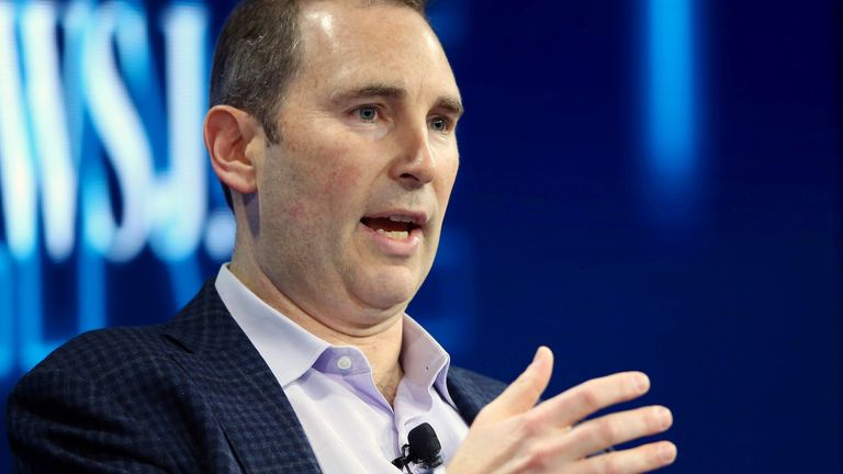 Andy Jassy, CEO Amazon Web Services, speaks at the WSJD Live conference in Laguna Beach, California, U.S., October 25, 2016.