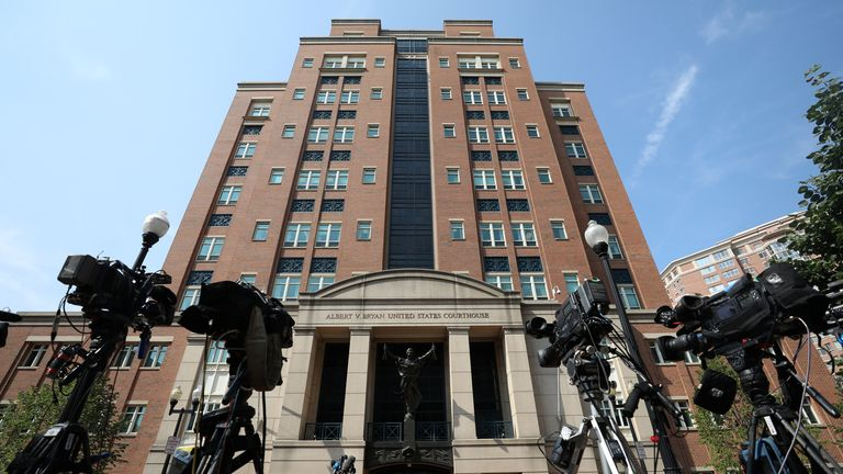The district courthouse in Alexandria, Virginia. File pic