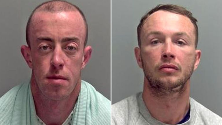 Anthony Reilly, left, and Steven Brogan, right, failed to smuggle cocaine into the UK after their jet ski ran out of fuel