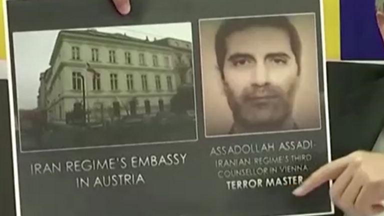 German authorities presented a photo declaring Assadi the 'terror master'