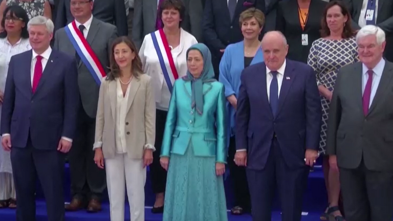 Rudy Giuliani, Newt Gingrich and Ingrid Betancourt were at the MEK rally in France
