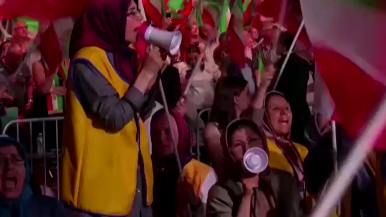 The MEK rally was held north of Paris - the group is the most structured opposition to the Iranian regime