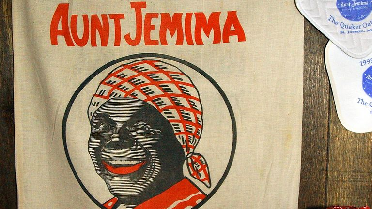 An Aunt Jemima Wheat Bran bag is seen Nov. 18, 2005, in the St. Joseph, Mo., home of Roy Fortner, a former Quaker employee. Pic: AP