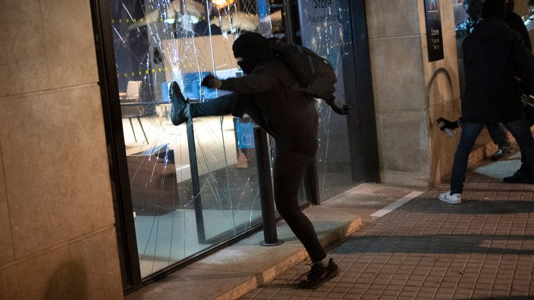 Violence returns to streets of Spain after arrest of rapper