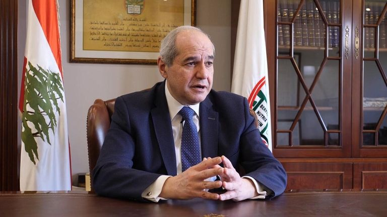 Melhem Khalaf, lawyer representing families of the victims in his office in Beirut's palace of justice