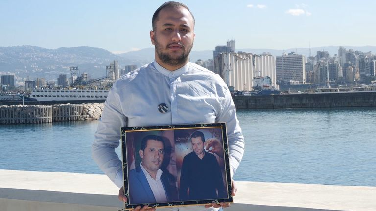 Mehdi Zahreldine, brother of victim Imad Zahereldine who was a port worker who died in the blast