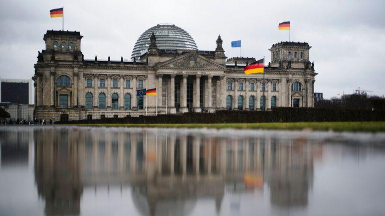 The German parliament building Reichtstag, Berlin