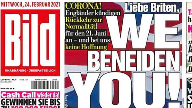 Bild's front page from 24 February