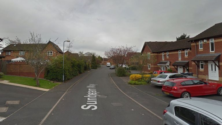 The attack happened at the woman's home in Sunbeam Way, east Birmingham. Pic: Google Streetview