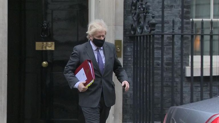 Bris Johnson leaving Downing Street