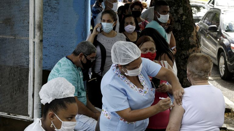 Brazil has started vaccinating its population but had to halt the roll-out due to supply issues