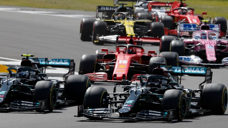 British Grand Prix at Silverstone in August 2020. Pic: AP