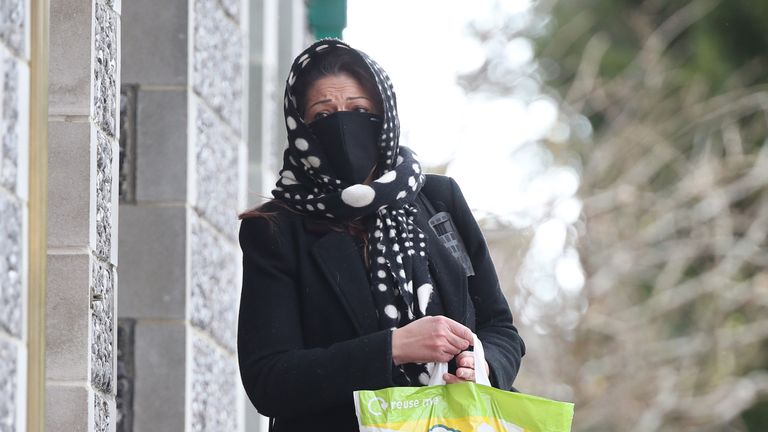 Nicole Elkabbas arriving at Canterbury Crown Court where she is due to be sentenced after conning kind-hearted members of the public out of thousands using a GoFundMe page whilst faking having cancer. Picture date: Wednesday February 10, 2021 PA WIRE Copyright notice: PA Wire/PA Images Picture by: Yui Mok