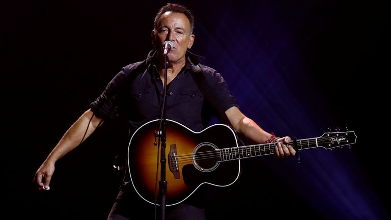 Bruce Springsteen performs during the closing ceremony for the Invictus Games in 2017