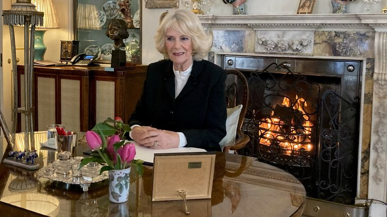 The Duchess of Cornwall says her 'heart is well and truly in it'. Pic: Clarence House