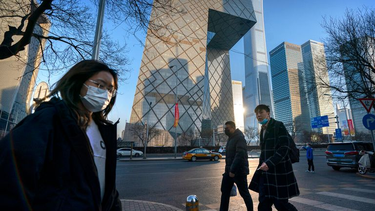 The CCTV Headquarters building, the home of Chinese state-run television network CCTV and its overseas arm CGTN, in Beijing