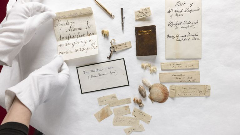 The box will be displayed at what was Darwin's home – Down House, in Kent. Pic: AP