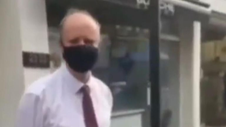 Chief Medical Officer Professor Chris Whitty was repeatedly caused a liar while walking in Westminster