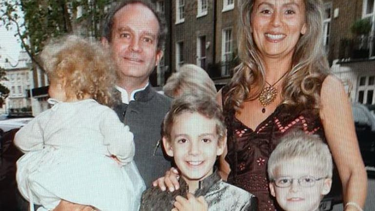 Mr Michel, pictured here with family, is at the centre of a dispute over an Indian defence contract