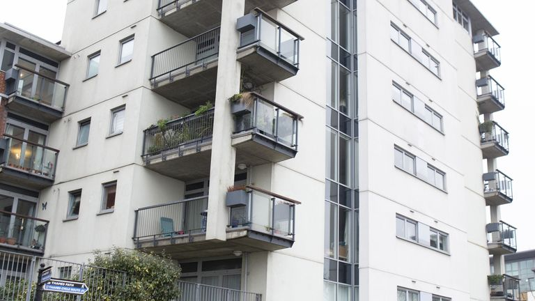Albert House, Woolwich, London, which has cladding that since the Grenfell disaster has been deemed un-safe