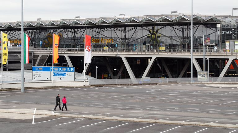 An empty car park at the Cologne-Bonn airport, as the spread of coronavirus disease (COVID-19) continues in Cologne, Germany, March 30, 2020