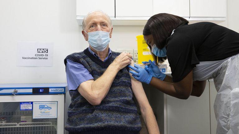 Coronavirus vaccine being administered