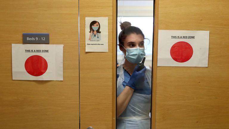 Staff nurse Aria Blyth at Forth Valley Royal Hospital near Falkirk