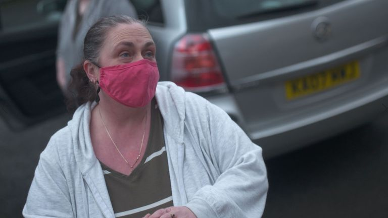 Kay Astley hands out free food to many households on her estate who can't afford it