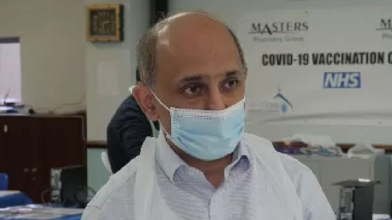 Birmingham pharmacist Murtaza Masters people worry the jab might affect fertility or change their DNA