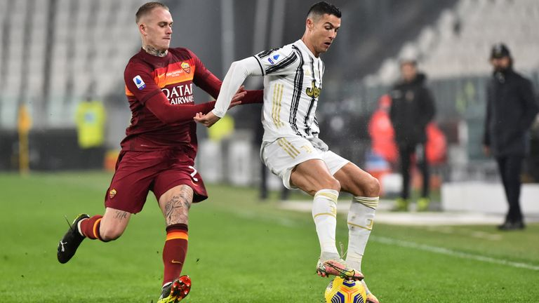 Cristiano Ronaldo in action for Juventus on Saturday
