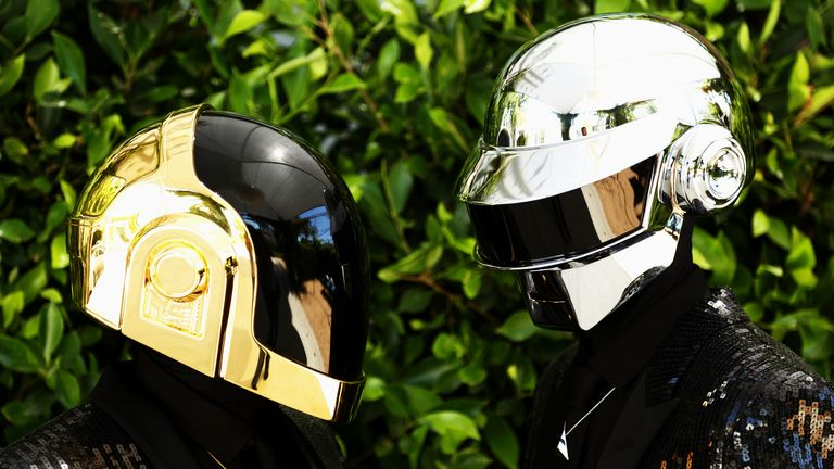 Well known for their robot alter egos, Thomas Bangalter (R) and Guy-Manuel de Homem-Christo (L) of Daft Punk are no longer a duo. Pic: AP