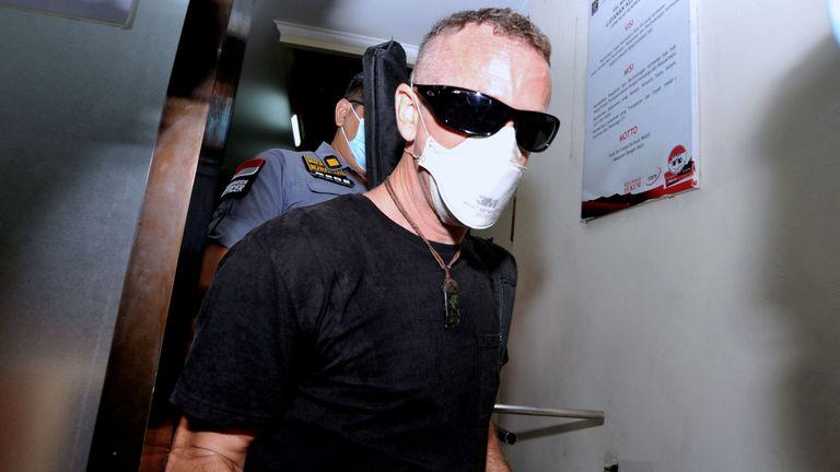 David Taylor was seen leaving Kerobokan prison