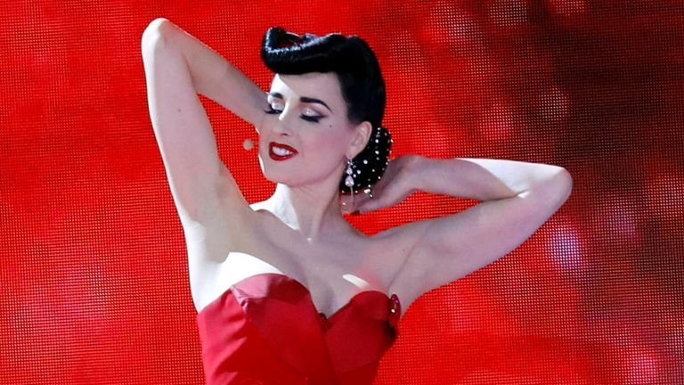 Dita Von Teese was in a relationship with Marilyn Manson for seven years, but says abuse claims don't match her experience