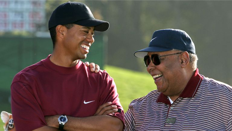 Earl Woods had been a huge influence on his son's golfing career