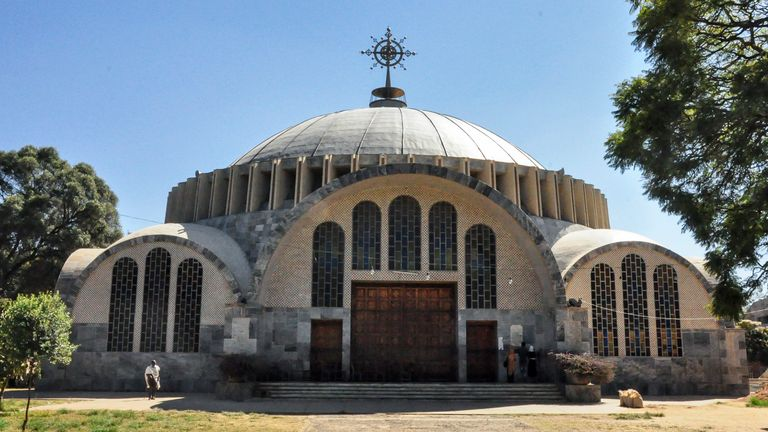 The Church of St Mary of Zion in the historical city of Axum. Pic: AP