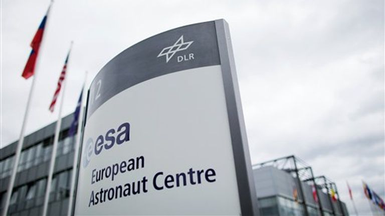 View of the European Astronaut Centre (EAC) of the European Space Agency (ESA) at the site of the German Aerospace Center in Cologne, Germany, 21 June 2016. Photo by: Rolf Vennenbernd/picture-alliance/dpa/AP Images