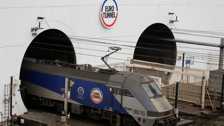 The proposed tunnel would be about six mile shorter than the Channel Tunnel