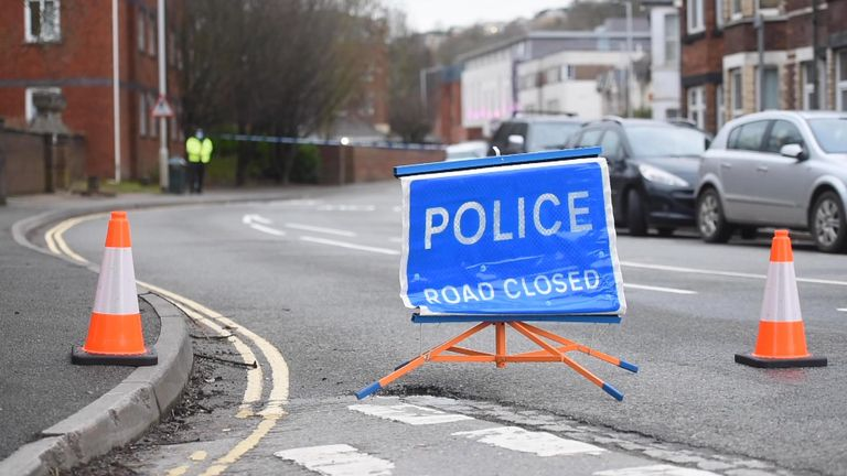 Road closures are in force around the property