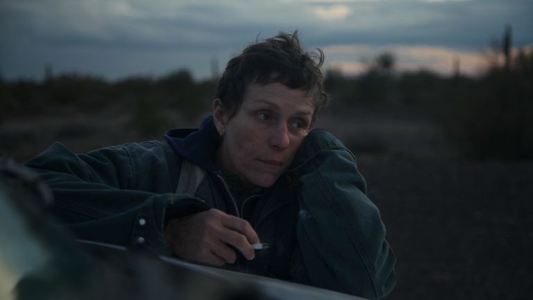 Frances McDormand in Nomadland. Pic: Joshua Richards/ Searchlight Pictures