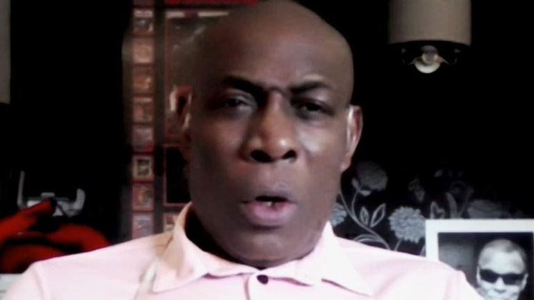 Frank Bruno talks to Sky News about his encounter with Mike Tyson