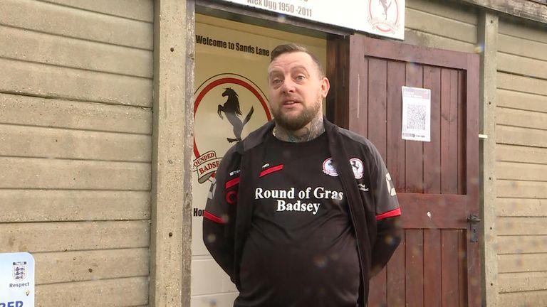 Wayne Neale, manager of Badsey Rangers FC