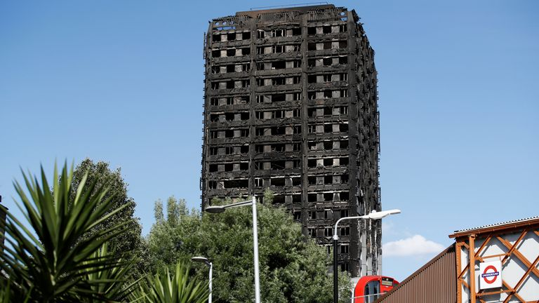 The block was destroyed in a fire disaster