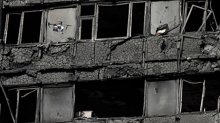 The aftermath of the Grenfell Tower fire