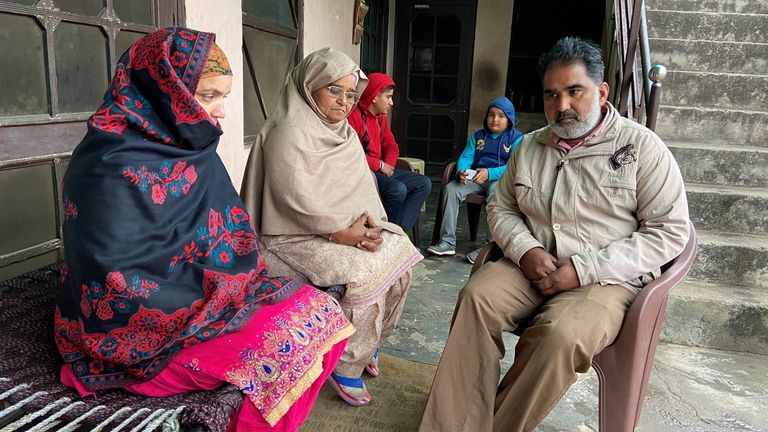 The family of Gurmeet Singh, who died of a heart attack in the farmers' protests in India