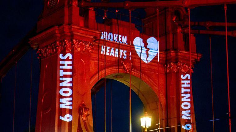 The message said: 'Broken hearts. Broken promises. Broken lives. Broken bridge'