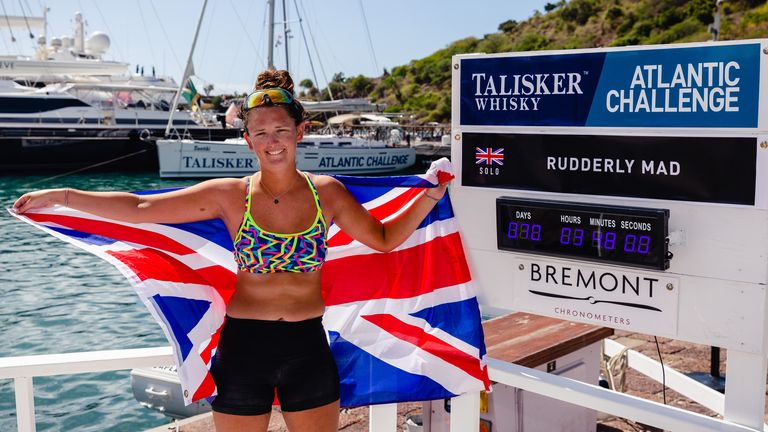 Jasmine Harrison, youngest woman to row solo across the Atlantic Ocean. Pic: Atlantic Campaigns/Penny Bird