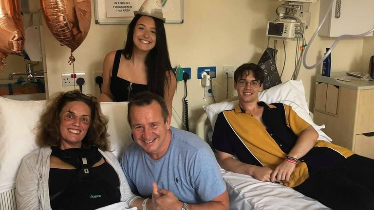 Heather Munroe's (L) family were told to expect the worst after her accident