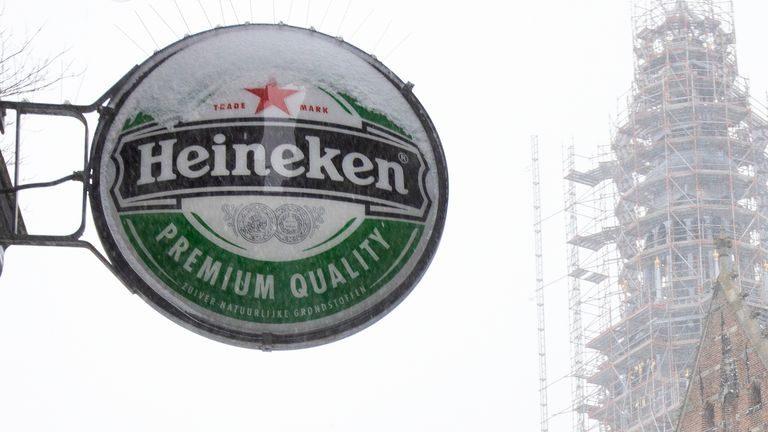 Heineken, like rivals, has suffered from coronavirus restrictions globally that have shuttered bars and pubs. Pic: AP