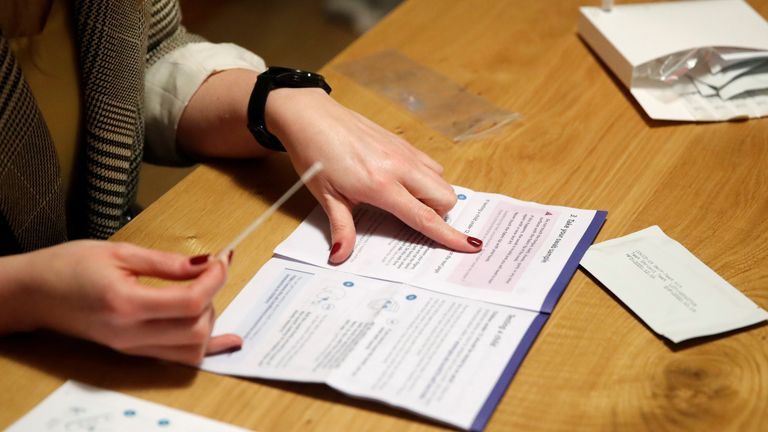 People aged 18 and over will be asked to complete a home COVID test