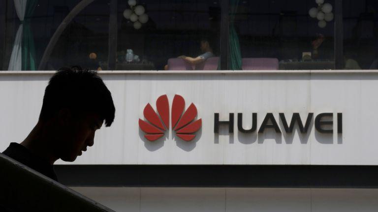 Huawei logo in Beijing